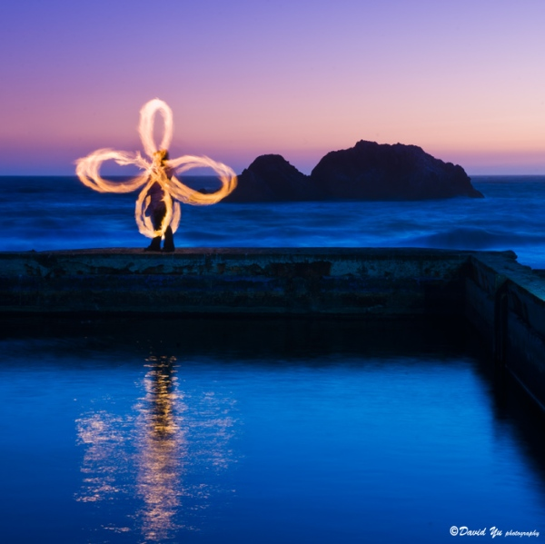 Beginner Poi Classes San Francisco, Dancer: GlitterGirl; Photo by David Yu