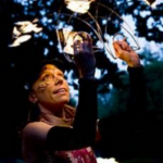 Temple of Poi Student, Brenda Fagan, Fire Dancer