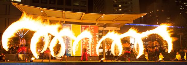 Union Square Fire Dancing Expo