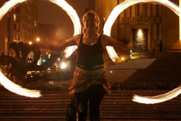 Beginner Poi Moves Fire Dancing Class