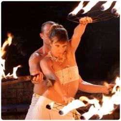 2014 Fire Dancing Expo -- Devon 'D'Light' and Coité