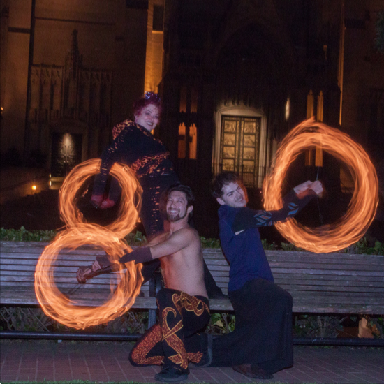 2014 Fire Dancing Expo - GlitterGirl, Nova & The Amazing Zihni