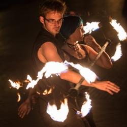2014 Fire Dancing Expo  - Jeremy & Rachel