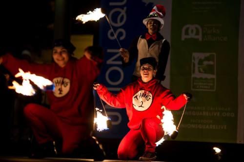 2014 Union Square Fire Dancing Expo: Portland Fire & Light