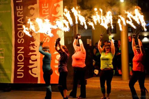 2014 Union Square Fire Dancing Expo: Fire Arts Collective
