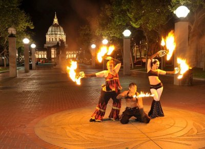 2010 Fire Dancing Expo Photo Shoot - GlitterGirl, Celsius & Sarah Starlight