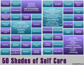 50 Shades of Self Care