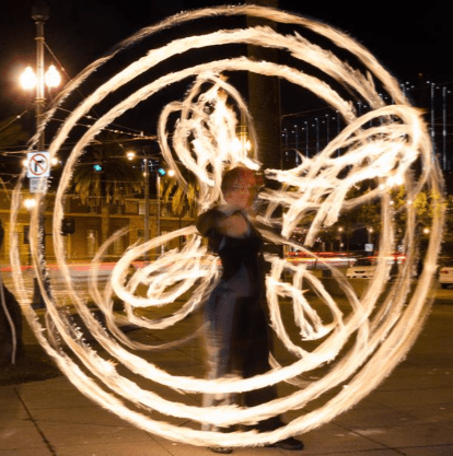 Beginner Poi Fire Dancing