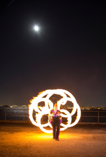 Beginner Fire Dancing Lessons