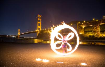 Beginner Fire Dancing Lessons, San Francisco