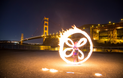 Beginner Fire Dancing Lessons, San Francisco