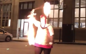Fire dancing lessons with GlitterGirl